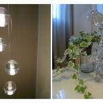 luminaria y atrezzo salón