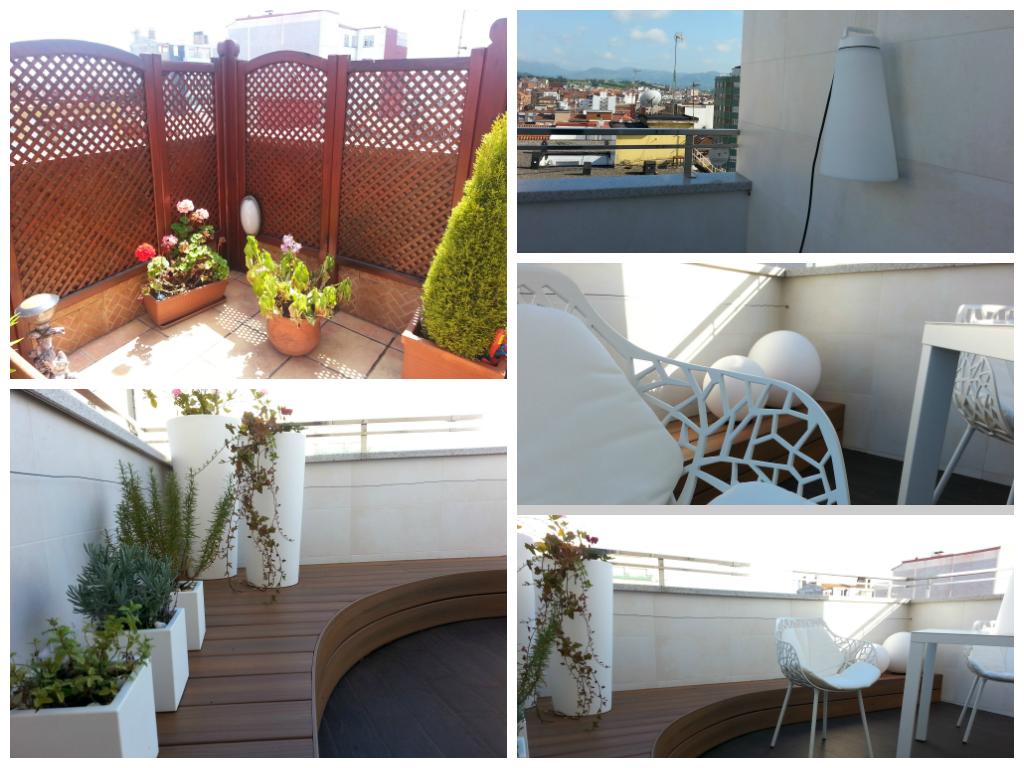 Antes y después terraza